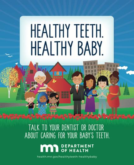 Healthy Teeth Healthy Baby Poster